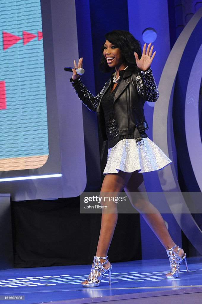 Brandy Norwood visits BET's 106 & Park at BET Studios on March 26, 2013 in New York City.