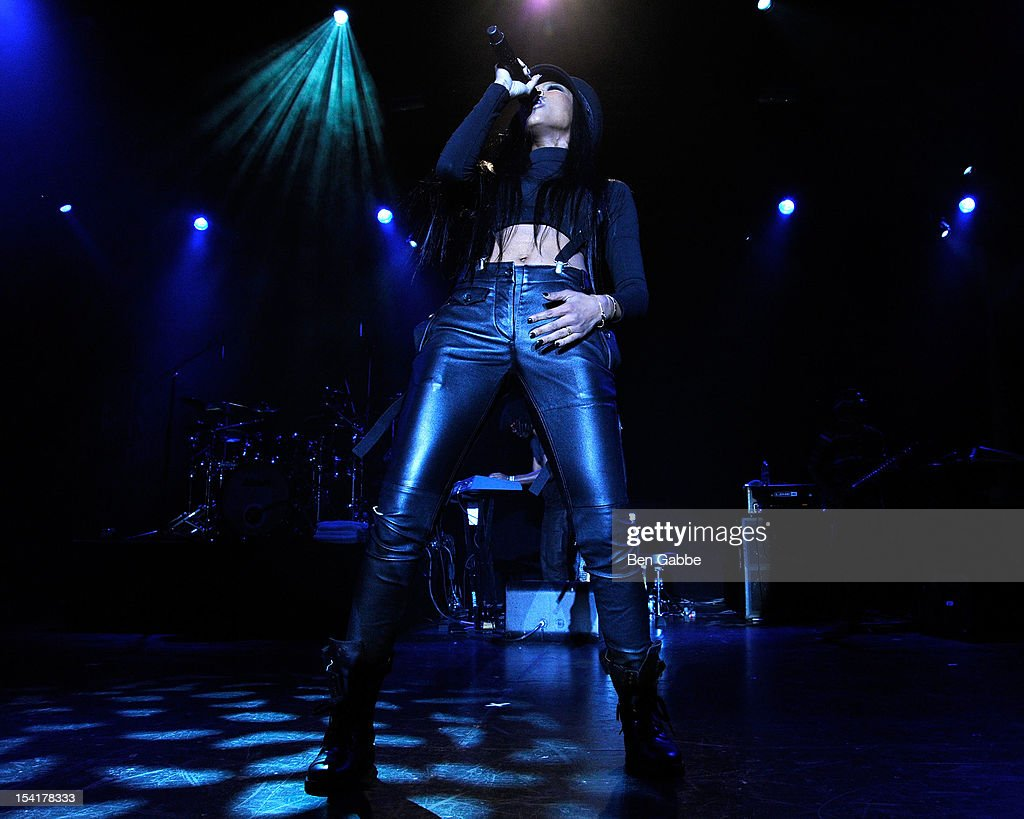 Brandy performs at Best Buy Theater on October 15, 2012 in New York City.