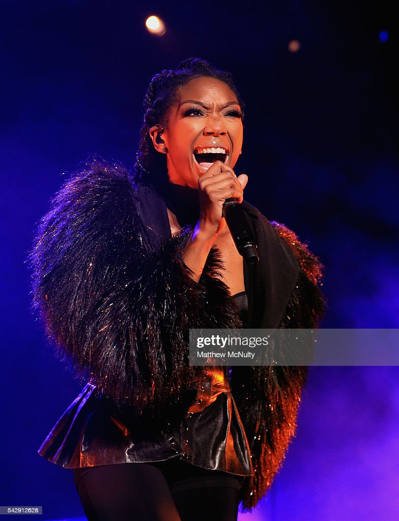 Brandy performs at the O2 Apollo on June 24 2016 in Manchester England
