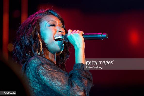 Brandy performs during the 2013 Essence Festival at the MercedesBenz Superdome on July 5 2013 in New Orleans Louisiana