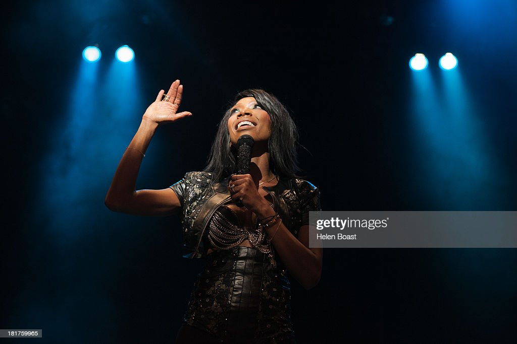 Brandy performs on stage at Musicalize at Indigo2 at O2 Arena on September 24, 2013 in London, England.