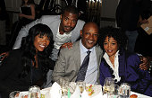 Brandy Ray J Ray Norwood Sr and honoree Sonja Norwood attend the 2010 Dress For Success Worldwide Gala at the Grand Hyatt Hotel on April 20 2010 in...