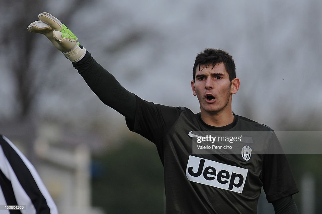Branescu of Juventus FC issue instructions during the Juvenile match between Juventus FC and FC Parma at Juventus Center Vinovo on November 21, 2012 in Vinovo, Italy.