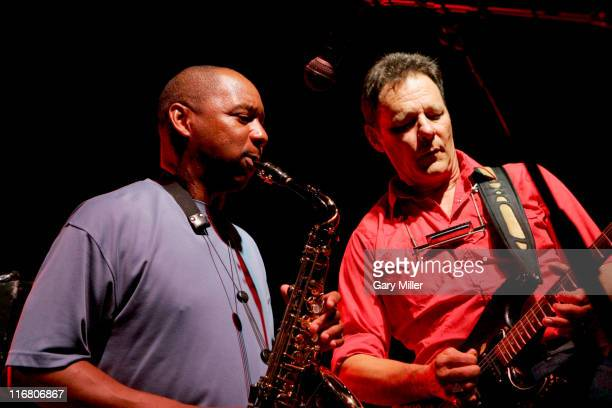 Branford Marsalis and Chris Mulkey during Dennis Quaid's Starry Starry Night Party Auction 39 at Austin Film Studios in Austin Texas United States