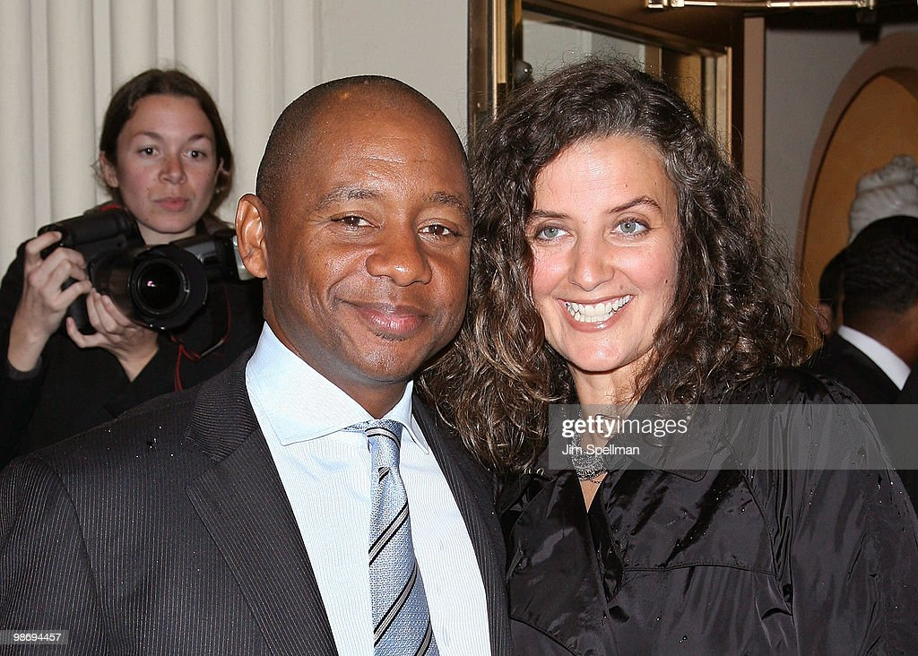 Branford Marsalis and guest attend the opening night of 'Fences' on Broadway at the Cort Theatre on April 26 2010 in New York City