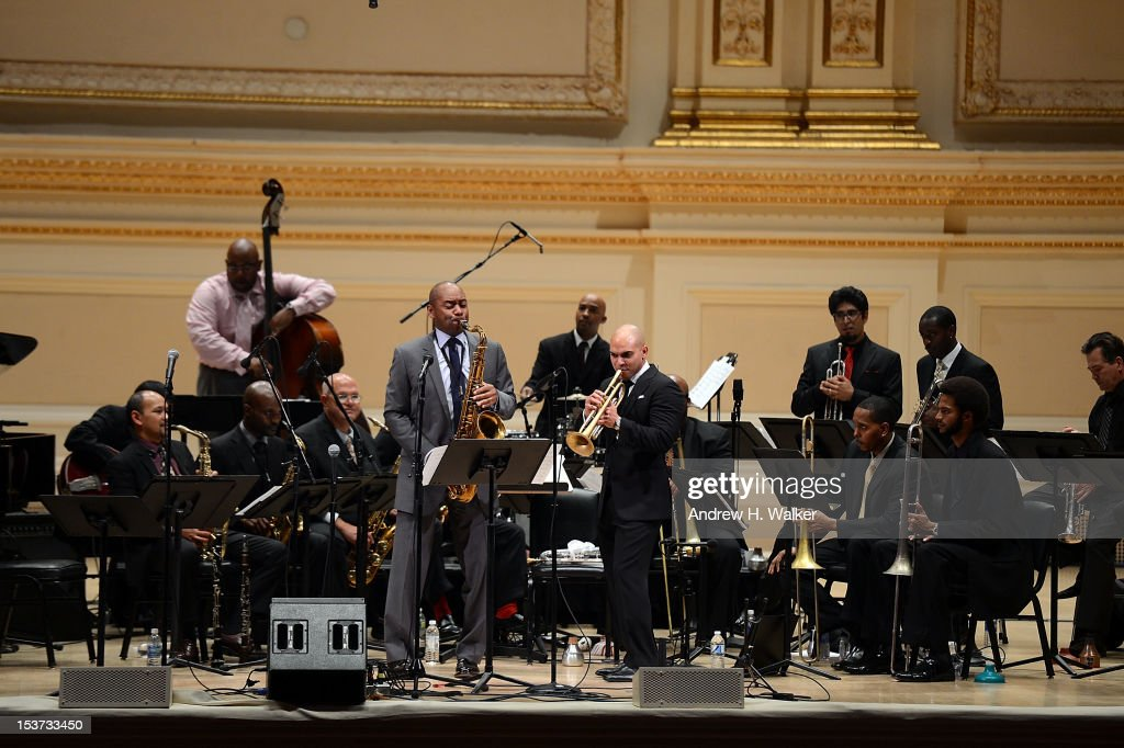Branford Marsalis and The New Orleans Jazz Orchestra perform at Carnegie Hall on October 8, 2012 in New York, New York.