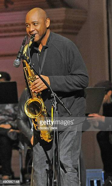 Branford Marsalis attends the soundcheck for Lean On Him A Tribute To Bill Withers at Carnegie Hall on October 1 2015 in New York City