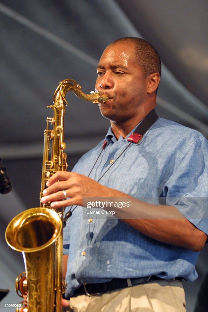 Branford Marsalis during 35th Anniversary of the New Orleans Jazz Heritage Festival Day 2 at New Orleans Fair Grounds in New Orleans LA United States