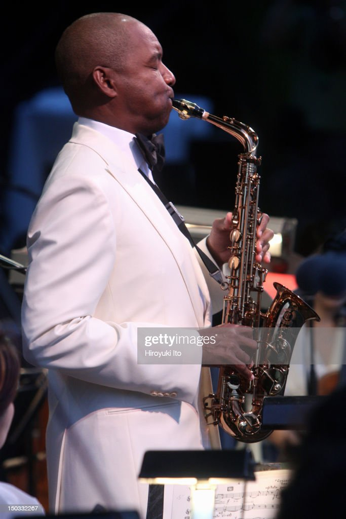 Branford Marsalis performing Glazunov's 'Concerto in Eflat major for Alto Saxophone and String Orchestra' with the New York Philharmonic led by...