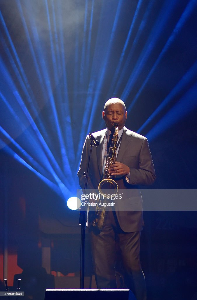 Branford Marsalis performs during the Echo Jazz 2015 at the dockyard of BlohmVoss on May 28 2015 in Hamburg Germany