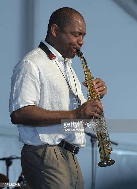 Branford Marsalis Quartet during 38th Annual New Orleans Jazz Heritage Festival Presented by Shell Marsalis Music Honors Alvin Bastiste and Bob...