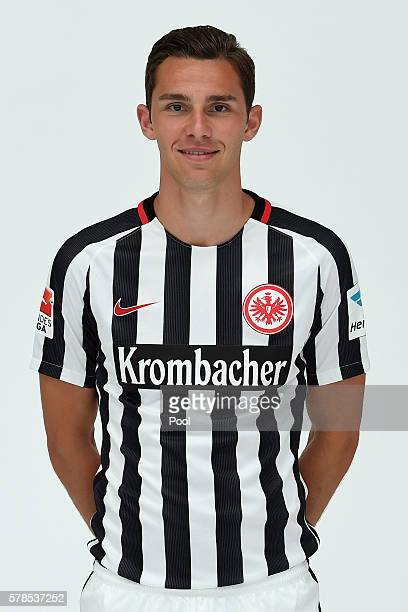 Branimir Hrgota poses during the Eintracht Frankfurt Team Presentation on July 21 2016 in Frankfurt am Main Germany