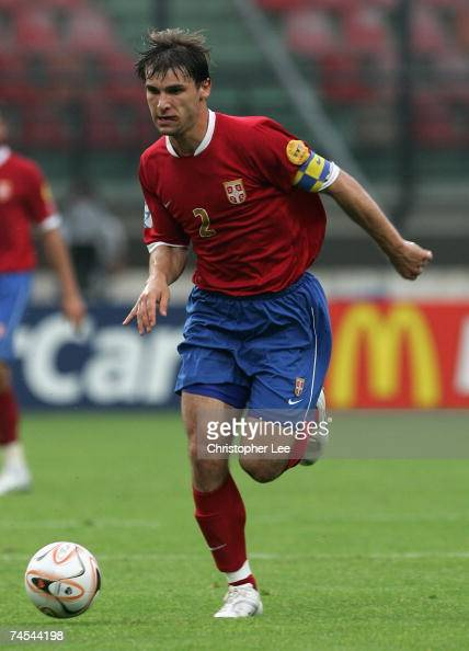 Branislav Ivanovic of Serbia in action during the UEFA U21 Championship Group B match between Serbia U21 and Italy U21 at the Goffert Stadium on June...