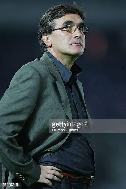 Branko Ivankovic coach of Iran during The 2006 Fifa World Cup Asian Qualifiers match between Japan and Iran at the International Stadium on August 17...