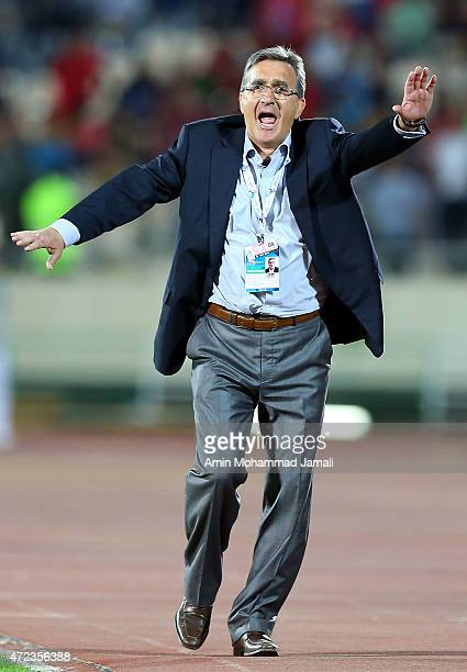 Branko Ivankovic coach of Persepolis reacts during persepolis against Bunyodkor AFC Champions League at Azadi Stadium on May 6 2015 in Tehran Iran