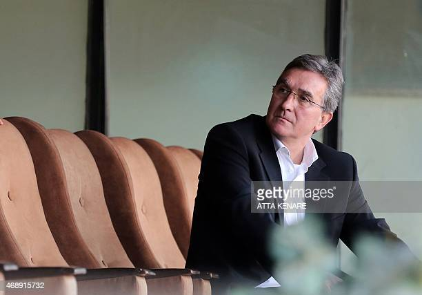 Branko Ivankovic the new manager of Persepolis gestures to the crowd during their AFC Champions League group A football match against Saudi's AlNassr...