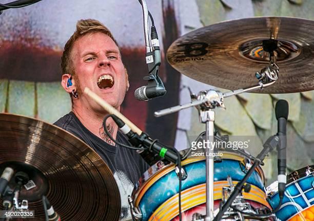 Brann Dailor of Mastodon performs during 2014 Rock On The Range at Columbus Crew Stadium on May 18 2014 in Columbus Ohio