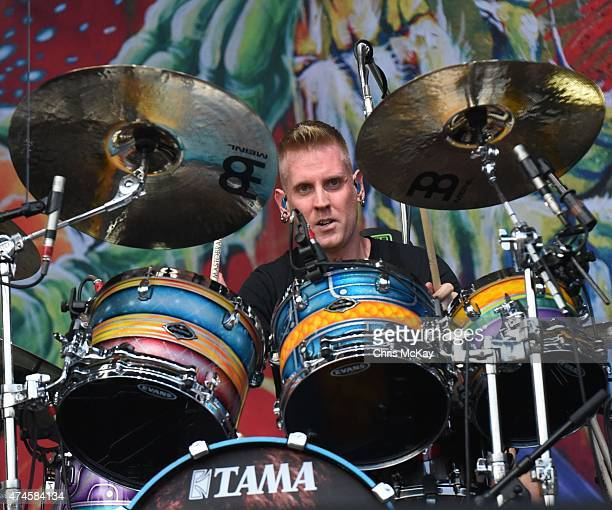 Brann Dailor of Mastodon performs during day 1 of the 3rd Annual Shaky Knees Music Festival at Atlanta Central Park on May 8 2015 in Atlanta City