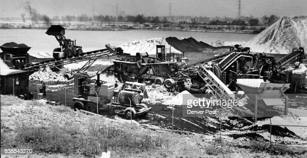 Brannan Sand Gravel Co'S Entire Crusher And Mixing Operation Is Shown With Lake Created By Mining Approval for these operations once was almost...