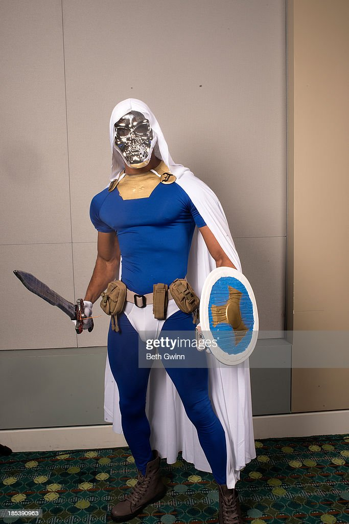 Brannon McGowan as Taskmaster attends Nashville Comic Con 2013 at Music City Center on October 19, 2013 in Nashville, Tennessee.