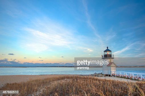 Brant Point Lighthouse Nantucket MA : Stock Photo