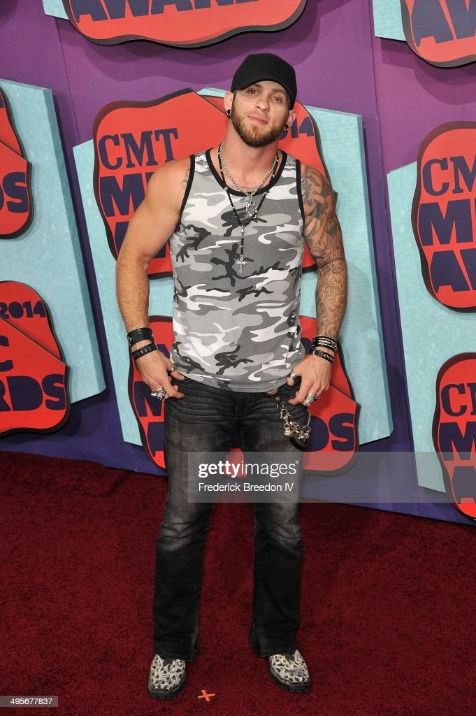 <a gi-track='captionPersonalityLinkClicked' href=/galleries/search?phrase=Brantley+Gilbert&family=editorial&specificpeople=7035830 ng-click='$event.stopPropagation()'>Brantley Gilbert</a> arrives at the 2014 CMT Music awards at the Bridgestone Arena on June 4, 2014 in Nashville, Tennessee.