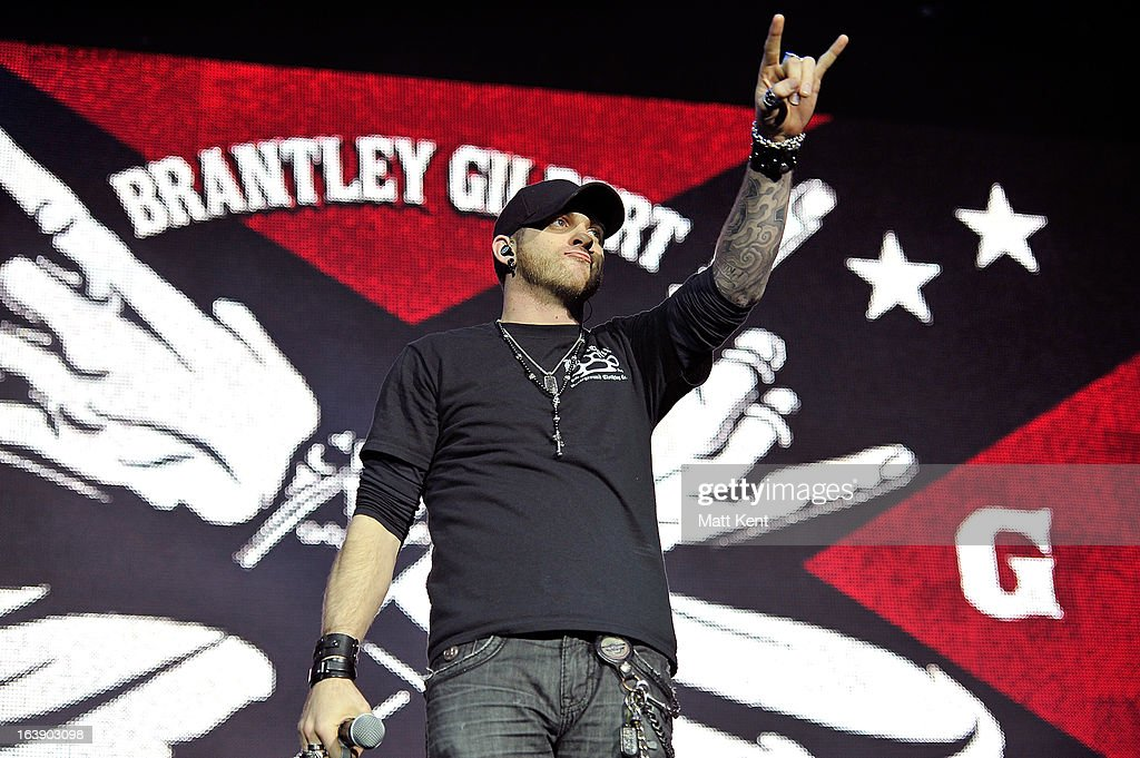 <a gi-track='captionPersonalityLinkClicked' href=/galleries/search?phrase=Brantley+Gilbert&family=editorial&specificpeople=7035830 ng-click='$event.stopPropagation()'>Brantley Gilbert</a> performs as part of the Country 2 Country tour at O2 Arena on March 17, 2013 in London, England.