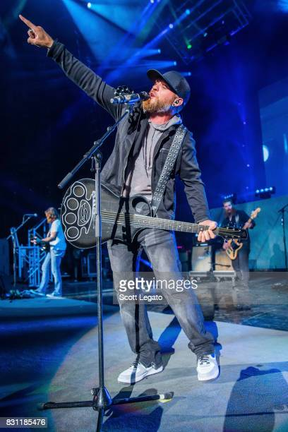 Brantley Gilbert performs during his The Devil Don't Sleep Tour at DTE Energy Music Theater on August 13 2017 in Clarkston Michigan
