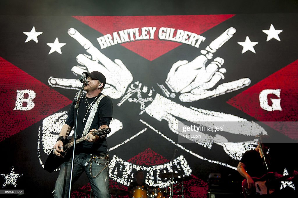 Brantley Gilbert performs on stage on Day 2 of C2C: Country To Country Festival 2013 at O2 Arena on March 17, 2013 in London, England.