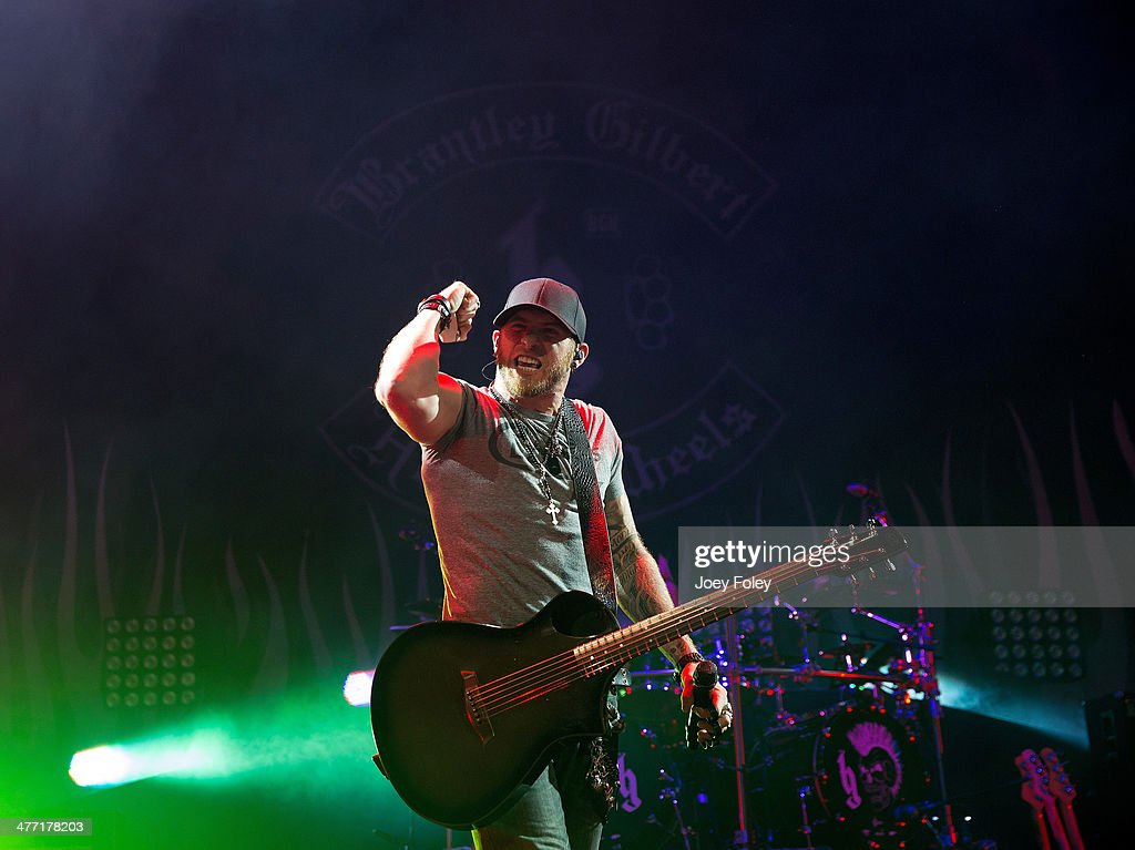 <a gi-track='captionPersonalityLinkClicked' href=/galleries/search?phrase=Brantley+Gilbert&family=editorial&specificpeople=7035830 ng-click='$event.stopPropagation()'>Brantley Gilbert</a> performs onstage at Bankers Life Fieldhouse on February 15, 2014 in Indianapolis, Indiana.