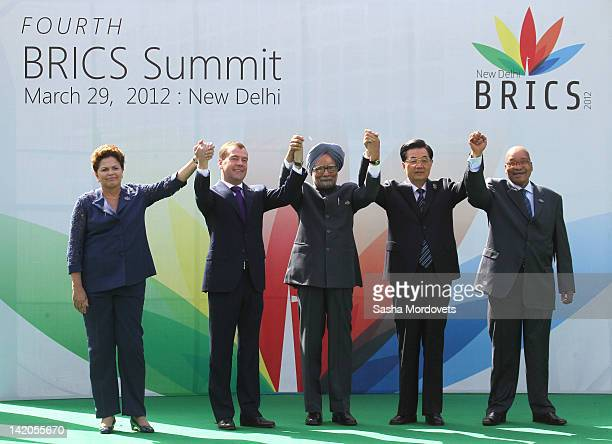 Brasil's President Dilma Rousseff Russian President Dmitry Medvedev Indian Prime Minister Manmohan Singh Chinese President Hu Jintao South Africa...