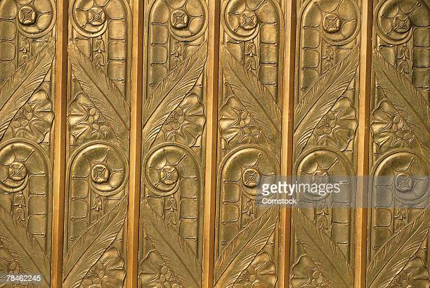 Brass art deco relief