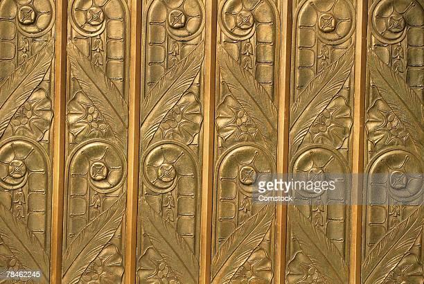 Brass art deco relief
