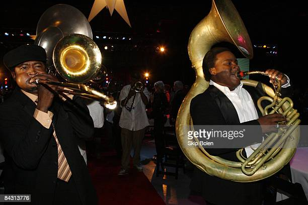 Brass Band finale with the Treme Brass Band Hot 8 Brass Band Pinstripe Brass Band Storyville Stompers Dirty Dozen Brass Band Free Agents Brass Band...