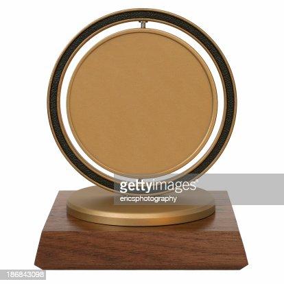 Brass corporate trophy