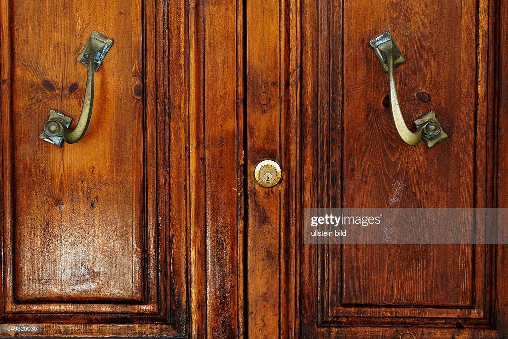 tuscan wooden doors brass door handles and lock pictures getty images