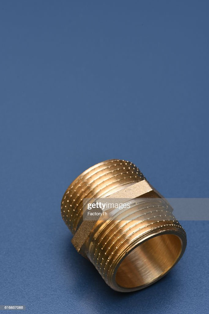 Brass fittings for water and gas : Stock Photo