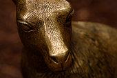 Brass kangaroo sculpture