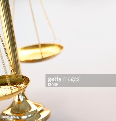 Brass Scales Of Jusitce : Stock Photo