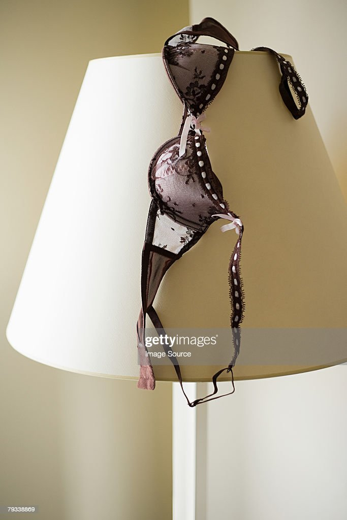 Brassiere on a lampshade