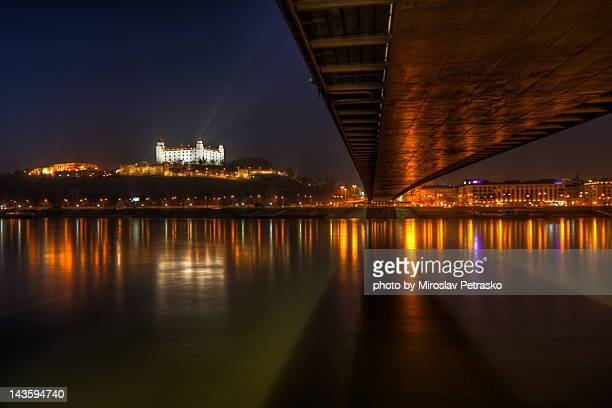 Bratislava castle from under New Bridge