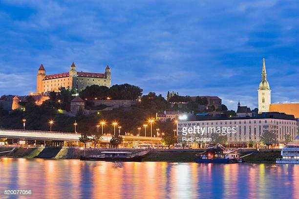 Bratislava Castle over Danube River