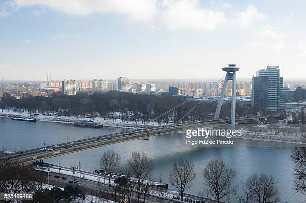 Bratislava panoramic view- Bratislava-Slovakia