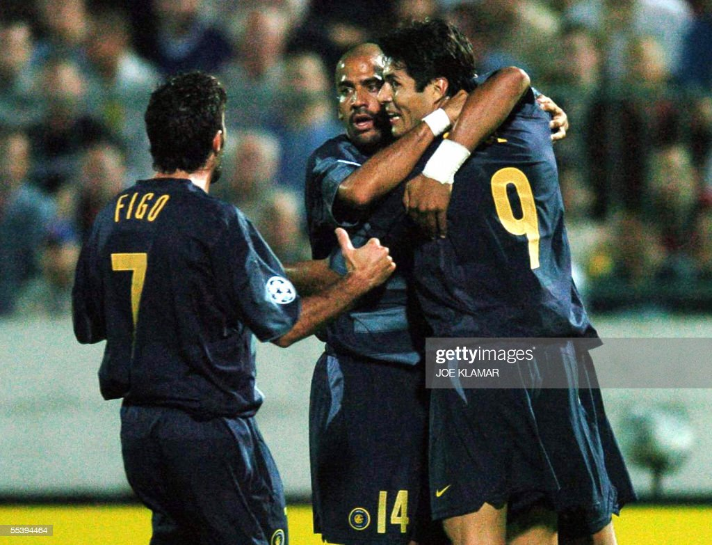 Italian Inter Milan player Luis Figo L