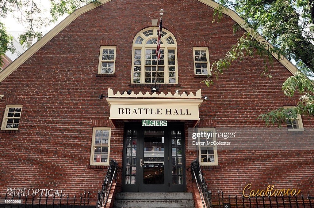 Brattle Hall, constructed in 1889 and added to the National Register of Historic Places, is seen July 30, 2009 in Harvard Square, Cambridge, Massachusetts. Harvard Square is a large triangular area located in the heart of Cambridge and adjacent to Harvard University, and is frequented by tens of thousands of tourists a year, and home to thousand of students with MIT University just down the road.