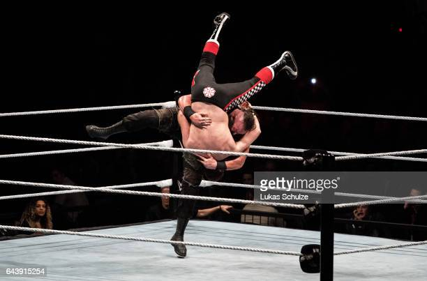 Braun Strowman fights against Sami Zayn during to the WWE Live Duesseldorf event at ISS Dome on February 22 2017 in Duesseldorf Germany
