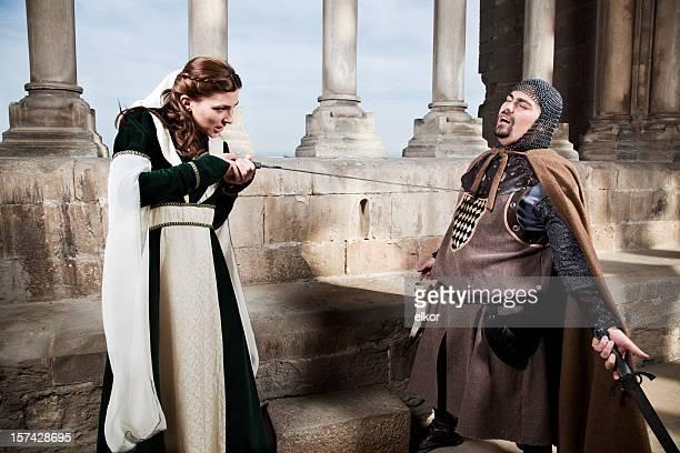 Brave princess, mittelalterlichen Maßnahmen.