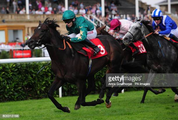 Brave Prospector ridden by Jamie Spencer wins the Frank Whittle Partnership Handicap during The DFS Doncaster Cup Day in the Ladbrokes St Leger...