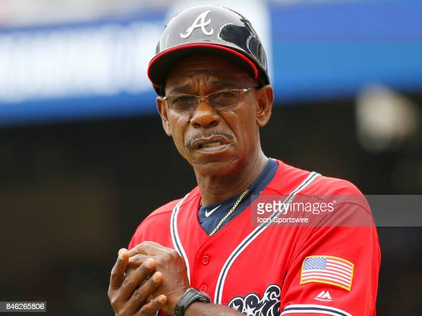 Braves coach Ron Washington during the major league baseball game between the Atlanta Braves and the Miami Marlins on September 10 at SunTrust Park...