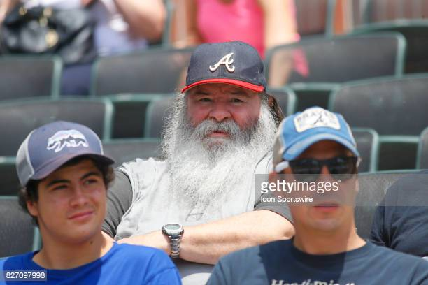 Braves fans prior to the MLB game between the Atlanta Braves and the Miami Marlins on August 6 2017 at SunTrust Park in Atlanta GA The Marlins beat...